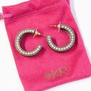 Silpada Leather Together Post Hoop Earrings